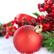 Christmas Decorations over white — Stock Photo #10676813