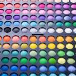 Makeup set. Professional multicolor eye shadow palette — Stock Photo