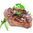 Grilled Beef Steak Isolated On a White Background — Stock Photo #10676869