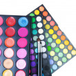 Professional Makeup set over white. Bright colors — Stock Photo