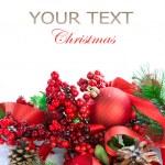 adornos navideños en blanco — Foto de Stock
