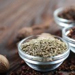 Spice Border. Caraway Or Cumin — Stock Photo #10677017