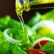 Healthy Salad And Pouring Olive Oil — Stock Photo #10677123
