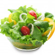 Stockfoto: Healthy Salad Over White