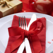 Royalty-Free Stock Photo: Romantic Dinner. Place setting for Valentine&#039;s Day