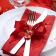 Romantic Dinner. Place setting for Valentine's Day — Stock Photo #10677157