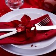 Romantic Dinner. Place setting for Valentine's Day — Stock Photo #10677183