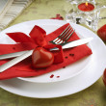 Sevgiliye romantik bir akşam yemeği — Stok fotoğraf