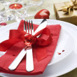 Stock Photo: Romantic Dinner. Place setting for Valentine's Day