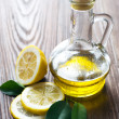 Olive Oil And Lemon — Stock Photo