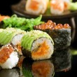 Sushi And Rolls Closeup — Stock Photo