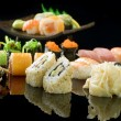Sushi Over black — Stock Photo