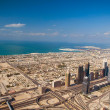 DUBAI, UAE. - NOVEMBER 29 : Dubai, the top view on Dubai from th — Stock Photo