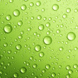 gouttes d'eau au vert. Closeup — Photo #10677779