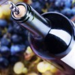 wine bottle closeup — Stock Photo