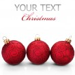 Christmas Baubles over white — Stock Photo