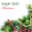 Christmas Tree with Decoration. Border design — Stockfoto