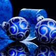 Christmas Baubles isolated on Black — Stock Photo