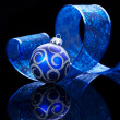 Stock Photo: Christmas Decoration isolated on black