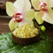 Stock Photo: Spa. Scented SeSalt And Orchid