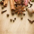 Spices Border. With Copy Space - Stock Photo