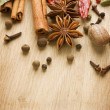 Spices Border. With Copy Space - Foto Stock