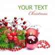Christmas Decoration over white — Stock Photo #10679292