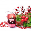 Stock Photo: Christmas Decoration over white