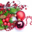 Christmas Decoration over white — Stock Photo #10679310