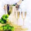Champagne. New Year Celebration — Stock Photo