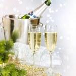 Champagne. New Year Celebration — Stock Photo