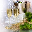 Champagne. New Year Celebration - Stock Photo