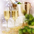 Stock Photo: Champagne. New Year Celebration