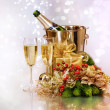 Champagne. New Year Celebration — Stok Fotoğraf #10679340