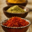 Spices Saffron, turmeric, curry — Stock Photo #10679407