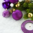 Christmas Violet Decorations - Stock Photo