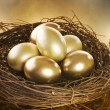 Golden Nest Eggs - Foto Stock