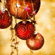 Stock Photo: Christmas Decorations border design