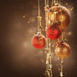 Christmas and New Year border Design — Stock Photo