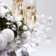 New Year Card Design with Champagne — Stock Photo #10679842