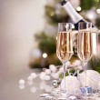 New Year Celebration. Two Champagne Glasses — Stock Photo #10679888
