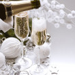 New Year Card Design with Champagne — Stock Photo #10679897