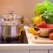 Kitchen Cooking closeup.Diet - Foto Stock