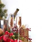 New Year Celebration.Champagne — Stock Photo