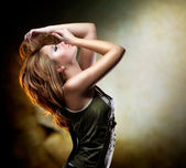 Fashion Dancing Girl. Disco — Stock Photo