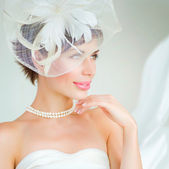 Bride portrait.Wedding dress — Stock Photo
