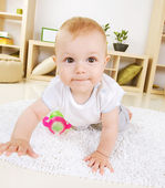 Crawling Baby boy — Stock Photo