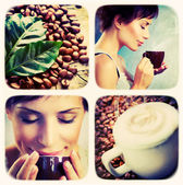 Coffee collage.Art Design — Stock Photo