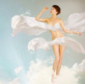 Mulher. retrato perfeito slim body.beauty.full-comprimento — Foto Stock