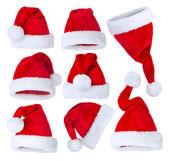 Santa's Hat set over white — Φωτογραφία Αρχείου